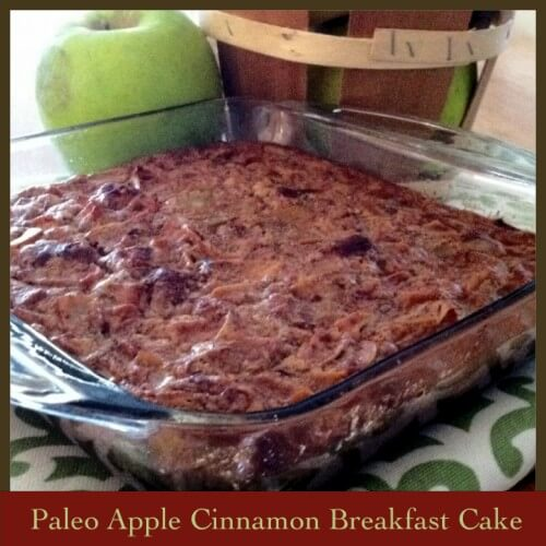 Paleo Apple Cinnamon Breakfast Cake (Grain, Dairy, Nut Free)