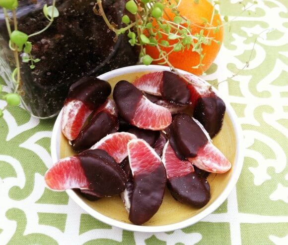 Dark Chocolate Double Dipped Blood Oranges