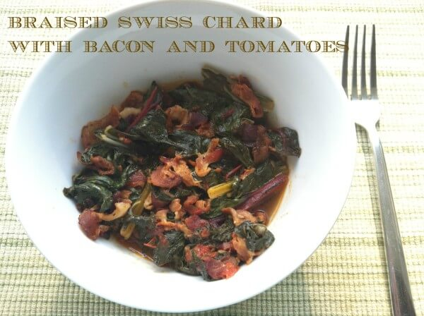 Braised Swiss Chard with Bacon and Tomatoes