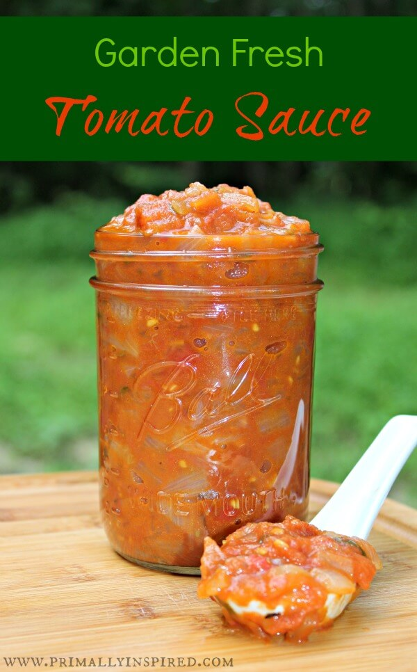 Garden Fresh Tomato Sauce with Secret Ingredients!