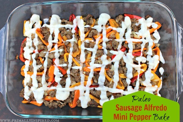 Paleo Sausage Alfredo Mini Pepper Bake