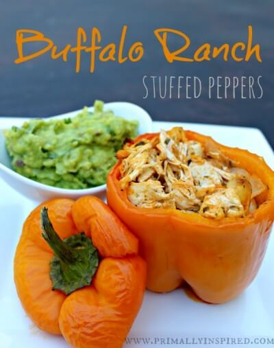 Buffalo Ranch Stuffed Peppers - Whole 30, Paleo