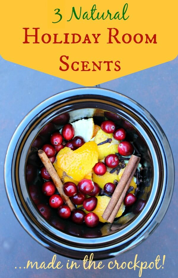 3 natural holiday room scents made in crockpot - PrimallyInspired.Com