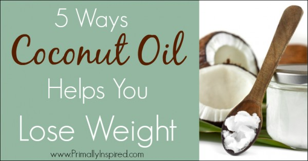 Coconut Oil Helps You Lose Weight | PrimallyInspired.com