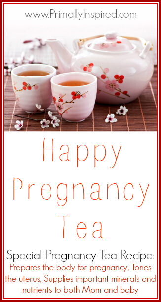 Happy Pregnancy Tea PrimallyInspired.com