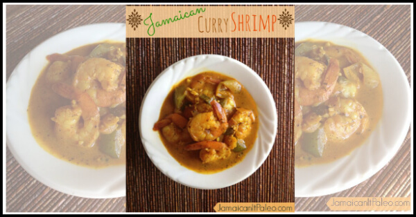 Jamaican Curry Shrimp - www.PrimallyInspired.com