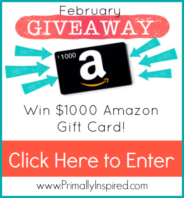 amazon gift card giveaway Primally Inspired