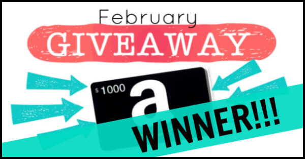 February giveaway winner