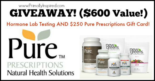 Giveaway Hormone Lab Testing and Pure Prescriptions Gift Card