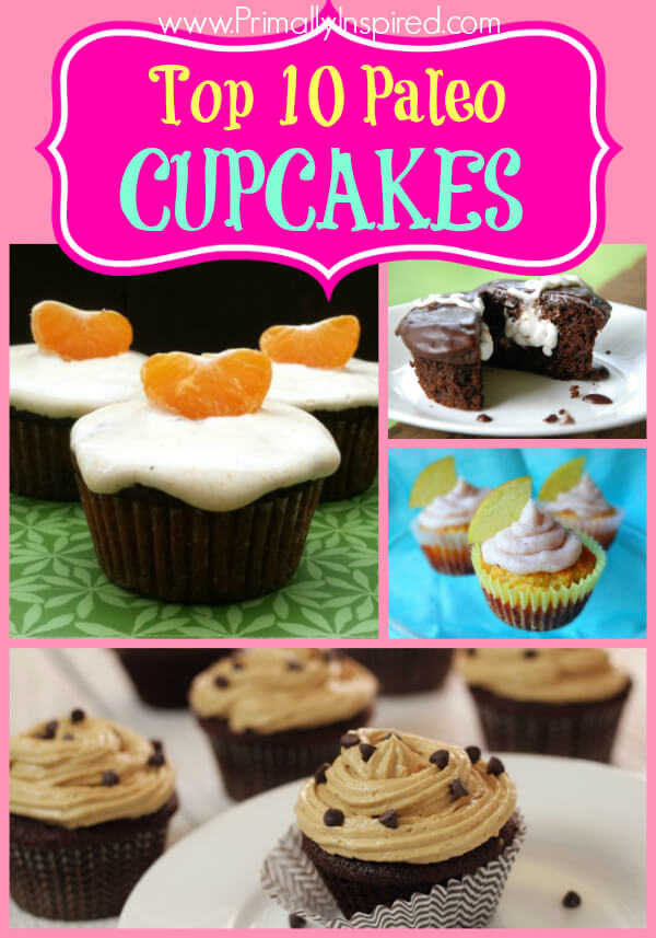 Best Paleo Cupcakes Recipes - www.PrimallyInspired.com