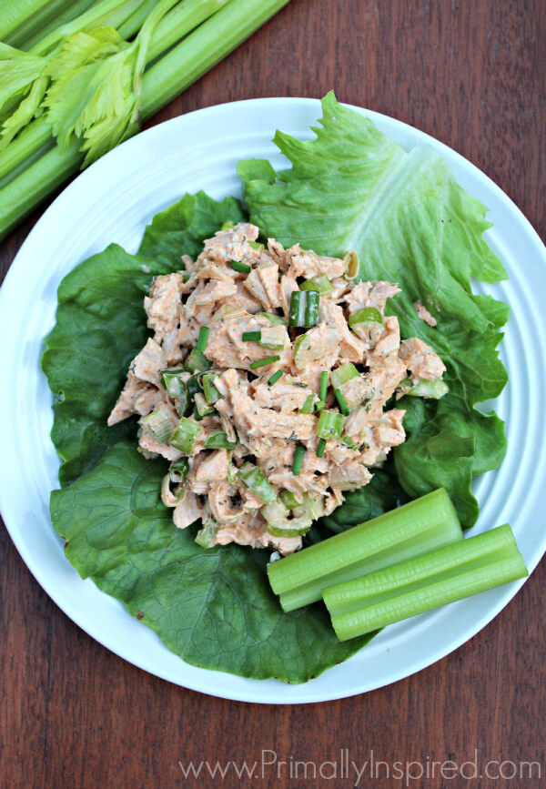 Buffalo Ranch Chicken Salad from Primally Inspired - Paleo