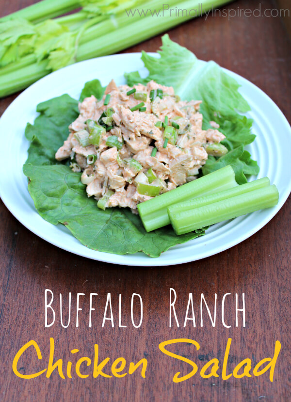 Buffalo Ranch Chicken Salad from Primally Inspired