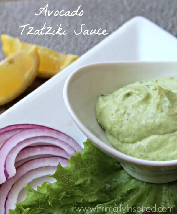 Avocado Tzatziki Sauce from Primally Inspired
