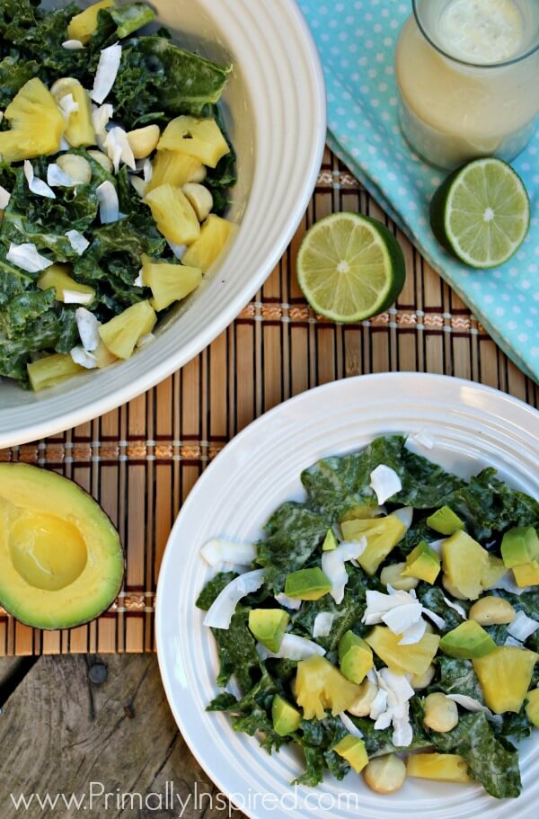 Pineapple Kale Salad by Primally Inspired