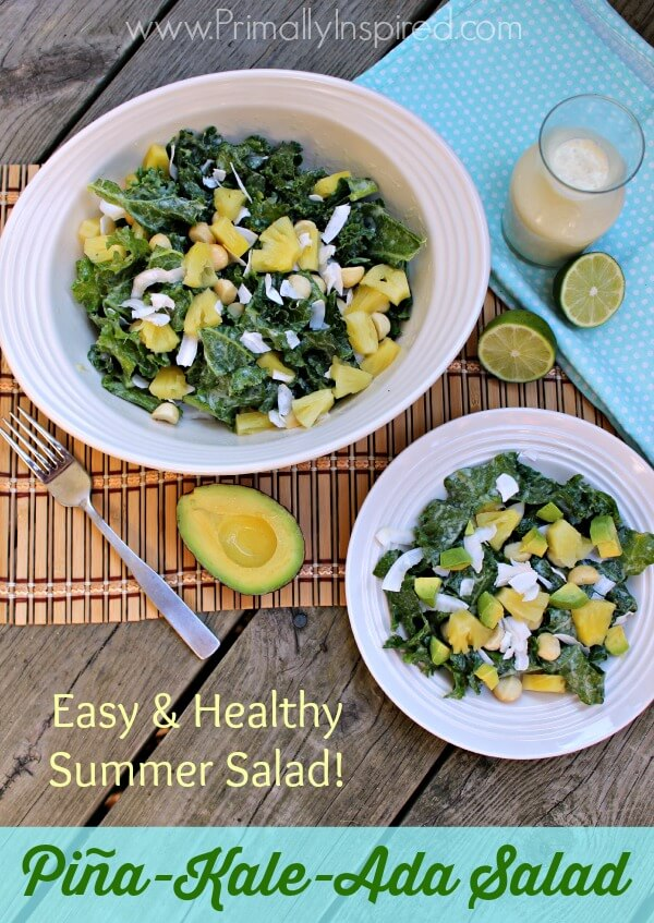 Pineapple Kale Salad from Primally Inspired (Vegan, Raw)