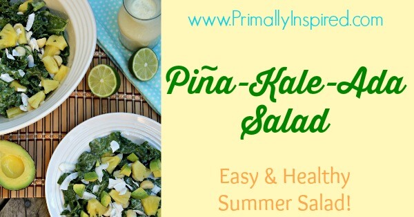 Pineapple Kale Salad (Vegan, Raw) via Primally Inspired