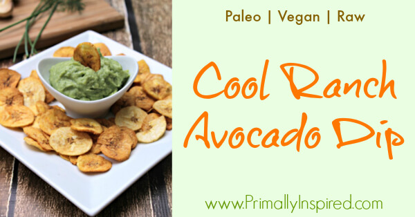 Cool Ranch Avocado Dip (Paleo, Vegan, Raw) from Primally Inspired