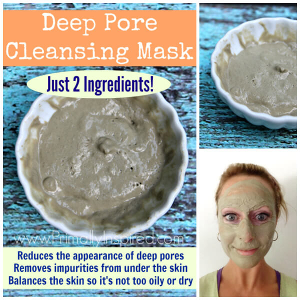 Deep Pore Cleansing Mask (Just 2 Ingredients!) by Primally Inspired