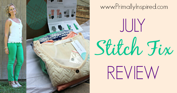July Stitch Fix Review By Primally Inspired
