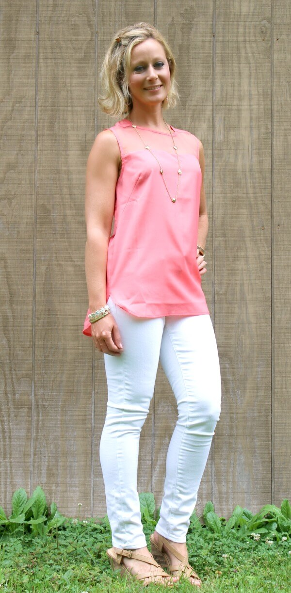August Stitch Fix Review from Primally Inspired | Mavi Aiden White Skinny Jeans