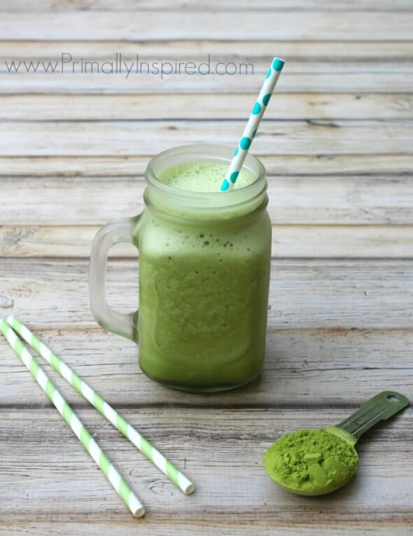 Green Tea Frappuccino Recipe from Primally Inspired (loaded with amazing health benefits!)