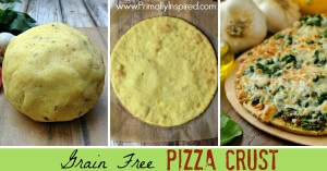 Grain Free Pizza Crust (Paleo Pizza Dough) from Primally Inspired
