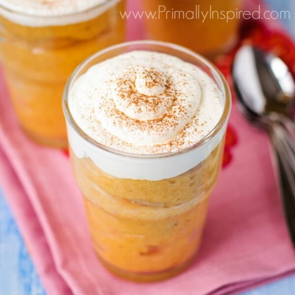 Paleo Pumpkin Pudding  (Dairy Free) from Primally Inspired