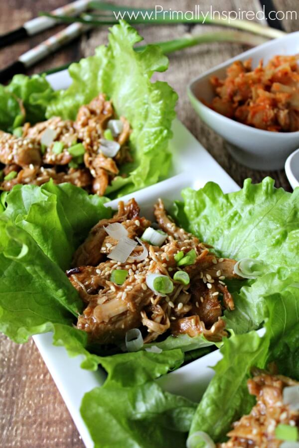 Healthy Sesame Chicken Recipe made in the Slow Cooker (Paleo) from Primally Inspired