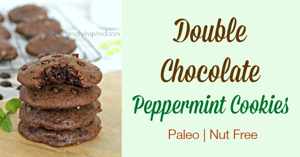 Double Chocolate Peppermint Cookies from Primally Inspired (Paleo, Nut Free)