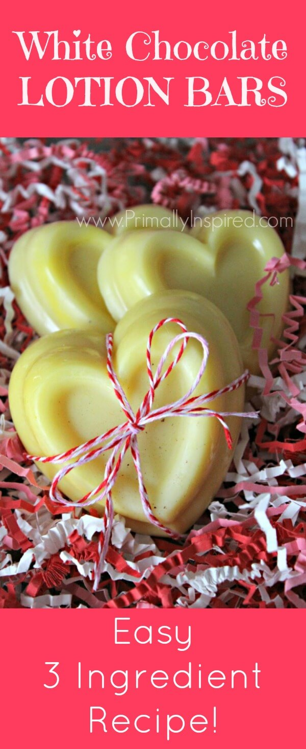 White chocolate lotion bars by Primally inspired