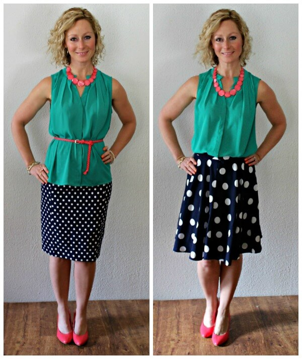 April Stitch Fix Review - Polka Dot Skirt