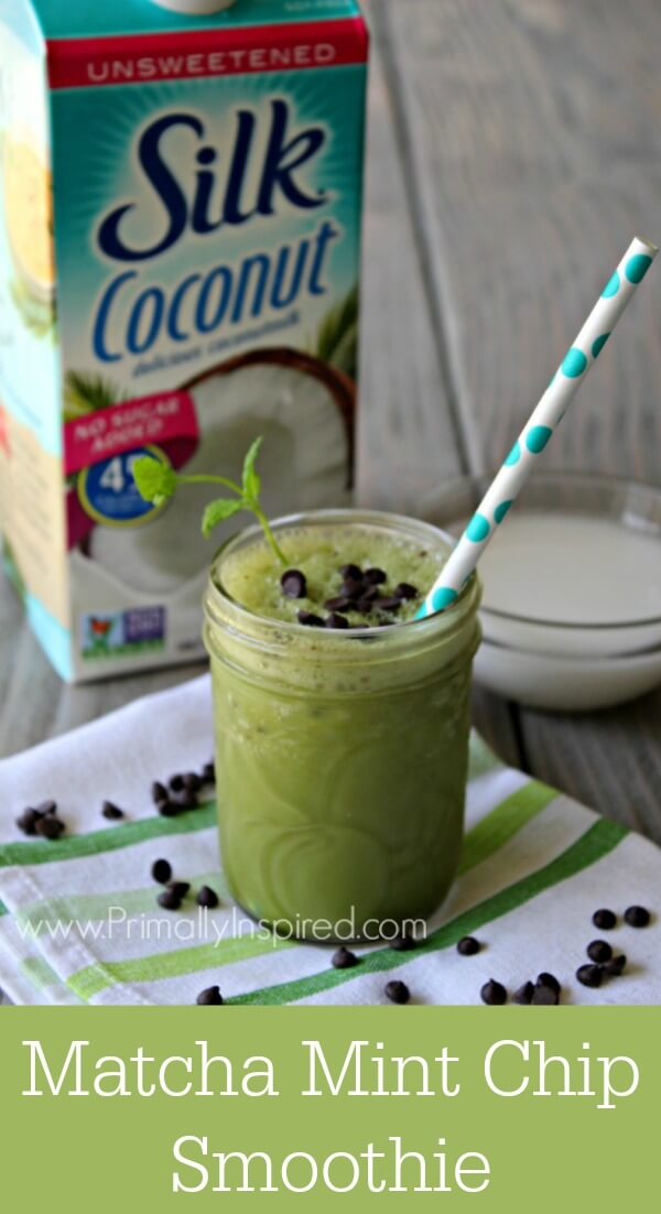 Dairy-Free Matcha Mint Chip Frappé Recipe  - No Refined Sugar   Primally Inspired