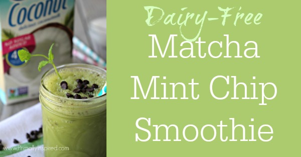 Dairy-Free Matcha Mint Chip Frappé Recipe  - No Refined Sugar Smoothie   Primally Inspired