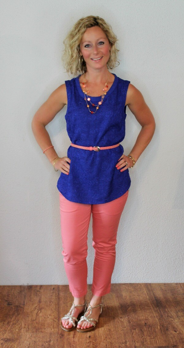 May Stitch Fix Review - Daniel Rainn Hal Crew Neck Blouse with Kut From The Kloth Siena Capri Pant  Primally Inspired
