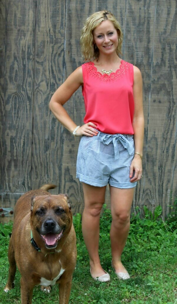 July Stitch Fix Review - Papermoon Magguie Lasercut Detail Blouse and Skies Are Blue Enna Short