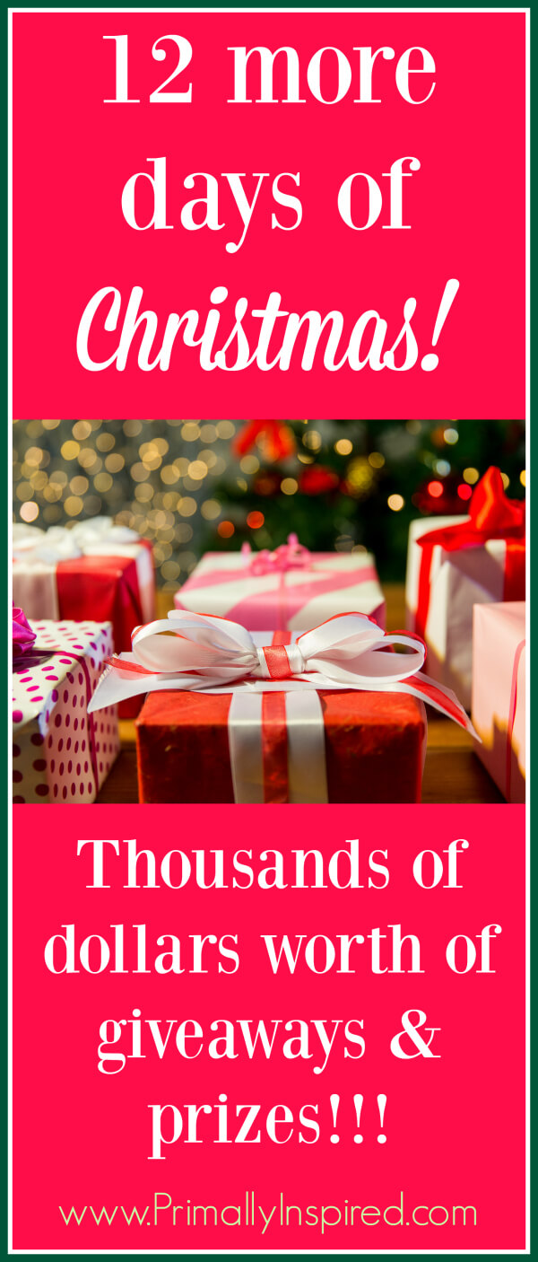 12 Days of Christmas - Giveaways and infrared sauna group buy at Primally Inspired