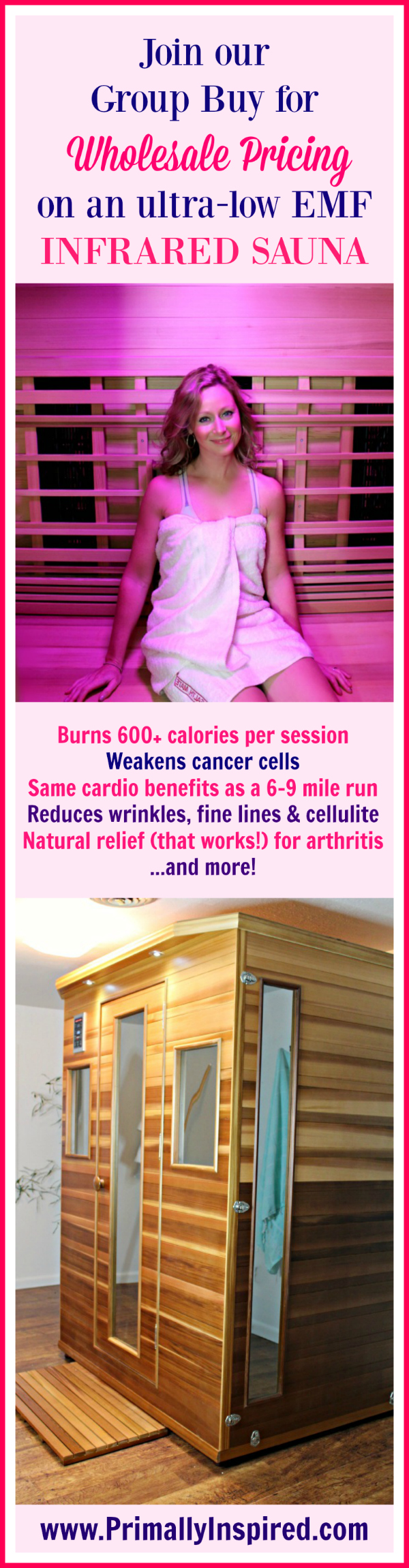 Infrared Sauna Group Buy at Primally Inspired - wholesale pricing