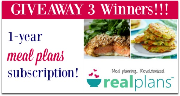 Real Plans Review and Giveaway - Meal Planning with Real Food!