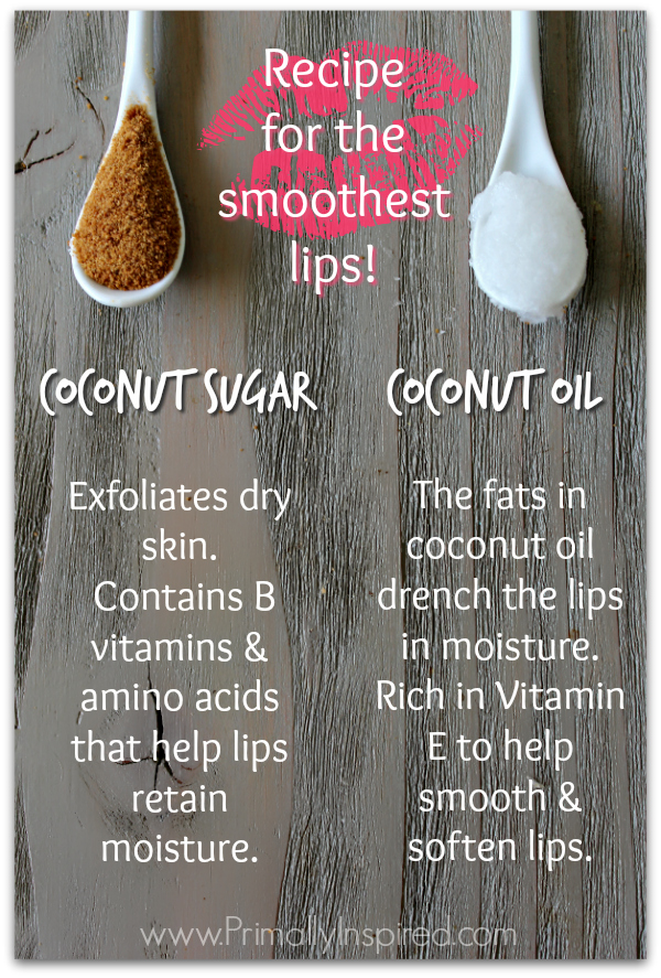 This DIY Coconut Sugar Lip Scrub makes my lips so soft and smooth! The best!