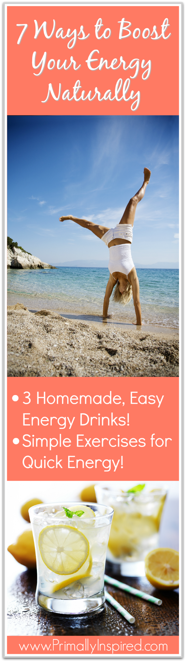 Get more energy naturally! Here's 7 natural energy boosts to increase your energy quickly when you're tired using easy, natural energy drink recipes, movement and harnessing the power of the mind.
