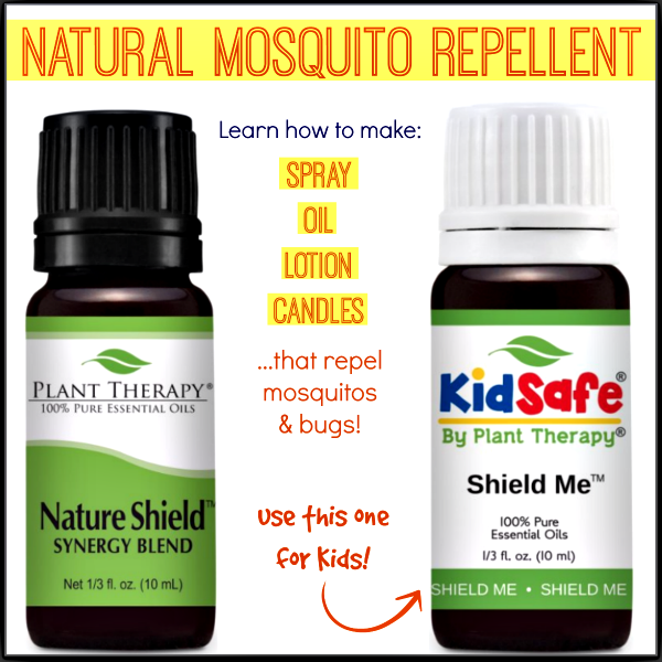 How to make easy mosquito repellent candles, spray, or lotion that repel mosquitoes, gnats and all other bugs - this is so simple and doable and all natural!