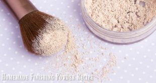 Homemade Finishing Powder DIY Recipe for clear, healthy skin! This stuff works so well for fine lines & pores - love it!!!