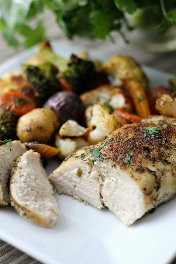 One Pan Meal: Ranch Chicken and Veggies - Whole30, Paleo and so good and easy!