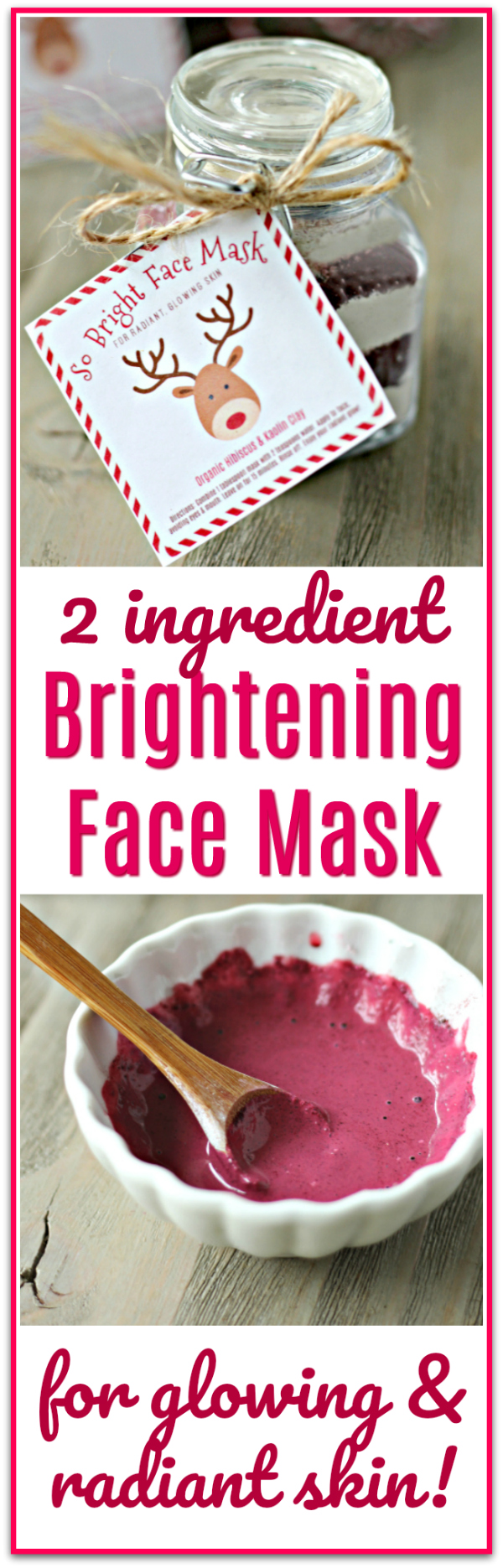 Brightening Face Mask Free Printable Labels for glowing skin