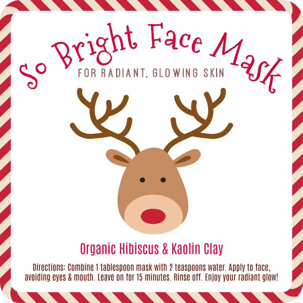 Brightening Face Mask Free Printable Labels
